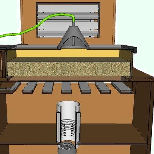 Drawer dryer for small amount of seed and grain